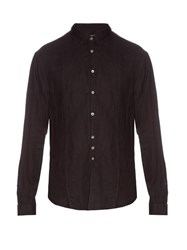 John Varvatos Button Cuff Linen Shirt Black