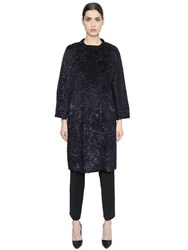 Max Mara 'S Double Breasted Faux Astrakhan Coat