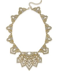 Bar Iii Gold Tone Crystal Statement Necklace Only At Macy's