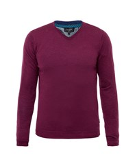 Ted Baker Men's Cashguy V Neck Jumper Pink