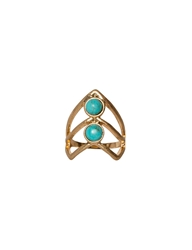 Pixie Market Midi Triangle Turquoise Gold Ring