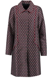 Mother Of Pearl Davenport Printed Cotton And Silk Blend Coat Blue