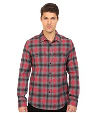 Huf Sayulita Flannel Shirt Red Men's Long Sleeve Button Up