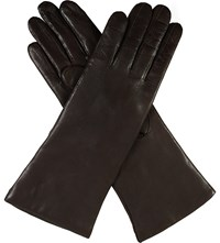 Dents Leather Cashmere Lined Gloves Mocca