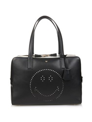 Anya Hindmarch Smiley Slouchy Leather Shoulder Bag