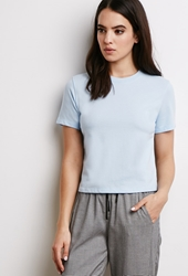 Forever 21 French Terry Tee Light Blue