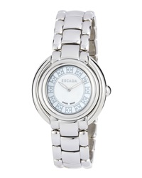 Escada Stainless Steel Two Hand Ivory Watch
