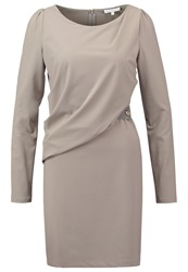 Patrizia Pepe Shift Dress Warm Grey Beige