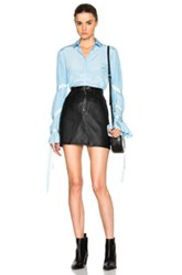 Each X Other Belted Bell Sleeve Top In Blue