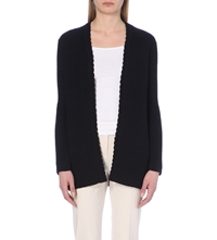 Reiss Sasha Scalloped Edge Cardigan Navy