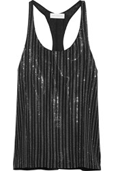 Faith Connexion Crystal Embellished Silk Organza Tank