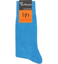 Dore Dore Ribbed Knitted Cotton Socks Blue