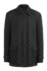 Brioni Quilted Silk Jacket Black
