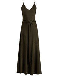 Sportmax Libero Gown Dark Green