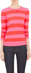 Barneys New York Women's Cashmere Block Striped Sweater Pink
