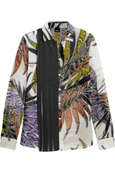 Just Cavalli Printed Chiffon Blouse White