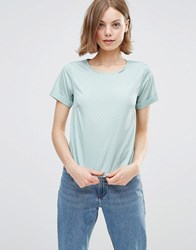 Poppy Lux Ren Gold Spot Tee Top Mint Gold Green