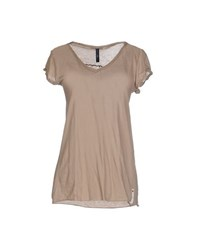 High Topwear T Shirts Women Light Brown