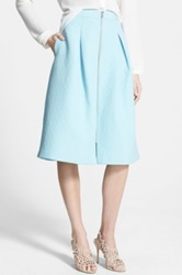Chelsea 28 Pleated Jacquard Midi Skirt Blue
