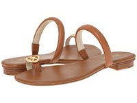 Michael Michael Kors Nora Toe Thong Luggage Vachetta Nappa Women's Sandals Brown