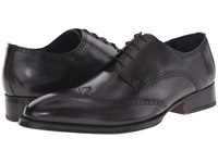 Messico Refugio Welt Vintage Black Leather Men's Flat Shoes
