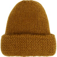 Tak. Ori Women's Rib Knit Slouchy Hat Yellow