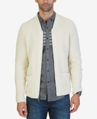 Nautica Men's Lofty Shawl Collar Cardigan Bone White