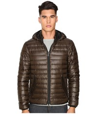Duvetica Troilo Quilted Down Hooded Jacket Mugo Men's Coat Brown