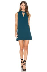 Greylin Dawnson Mock Neck Shift Dress Teal