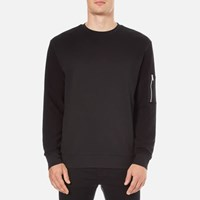 Hugo Men's Danremo Crew Neck Sweater Black