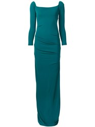 Nicole Miller Long Fitted Dress Green