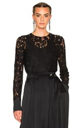 Lanvin Lace Blouse With Cuff Detail In Black