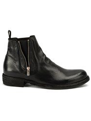 Officine Creative Zipped Ankle Boots Black