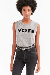 Truly Madly Deeply Vote Muscle Tee Grey
