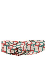 Gucci Horsery Printed Twill Silk Headband