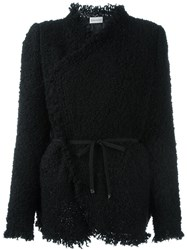 Moncler Boucle Wrap Jacket Black