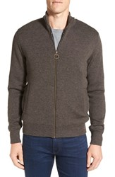 Barbour Men's Ardeley Zip Wool Sweater Rustic Brown