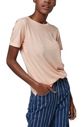 Women's Topshop Washed Cotton Tee Light Pink