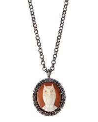 Owl Carnelian Necklace With Diamonds Amedeo White