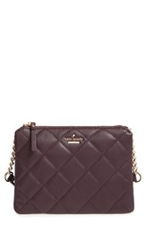 Kate Spade New York 'Emerson Place Harbor' Quilted Leather Crossbody Bag Brown Dark Mahogany