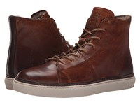 Frye Gates High Cognac Antique Pull Up Men's Lace Up Casual Shoes Brown