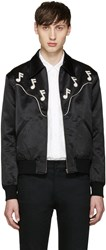 Saint Laurent Black Music Note Western Jacket
