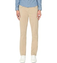 Michael Kors Slim Fit Tapered Stretch Cotton Chinos Sand