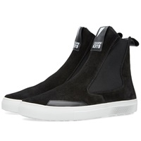 Stone Island Shadow Project Slip On Leather Boot Black