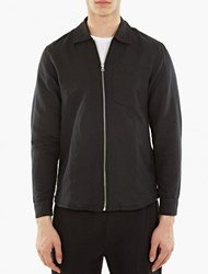 Our Legacy Black Linen Blend Zip Shirt