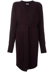 Societe Anonyme 'M' Belted Cardi Coat Red