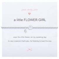 Joma Sterling Silver Plated A Little Flower Girl Bracelet Silver