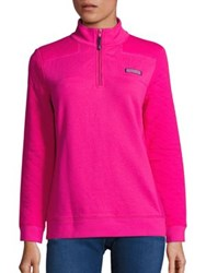 Vineyard Vines Quilted Panel Shep Sweater Rhododendron Jet Black
