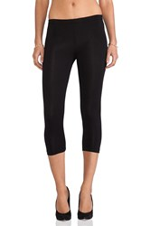 Bobi Cotton Lycra Cropped Leggings Black