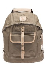 Men's Will Leather Goods Canvas Backpack Beige